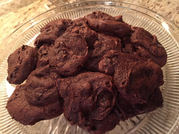 Sugar-Free Chocolate Chocolate Chip Cake Mix Cookies